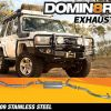 Domin8r Stainless Steel Exhaust Suitable For Toyota Landcruiser VDJ76R 4.5L V8 Wagon 2007-2016 (Turbo Back)