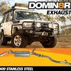 Domin8r Stainless Steel Exhaust Suitable For Toyota Landcruiser 76 4.5L V8 Wagon 2017+ (DPF Back)