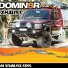 Domin8r Stainless Steel Exhaust Suitable For Toyota Landcruiser VDJ79R 4.5L V8 4 DR Cab Chassis 2007-2016 (Turbo Back)