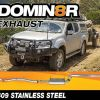 Domin8r Stainless Steel Exhaust Suitable For Isuzu D-MAX RT 3.0L 11/2016+ (DPF Back) - Suits 4x4 Models Only