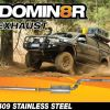 Domin8r Stainless Steel Exhaust Suitable For Ford Ranger PXII-PXIII 3.2L All Bodies 08/2016+ (DPF Back)