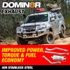 Domin8r Stainless Steel Exhaust Suitable For Isuzu D-MAX RT 3.0 LITRE All Bodies 2012 ONWARDS - Suits 4x4 Models Only