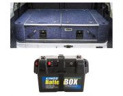 Titan Rear Drawer with Wings suitable for Toyota Landcruiser 80 Series + Adventure Kings Battery Box