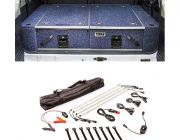 Titan Rear Drawer with Wings suitable for Nissan Patrol ST-L, TI + Illuminator 4 Bar Camp Light Kit