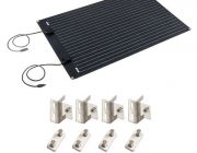 Adventure Kings 110W Semi-Flexible Solar Panel + Solar Panel Mounting Brackets