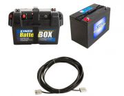 Adventure Kings AGM Deep Cycle Battery 115AH + Battery Box + 10m Lead For Solar Panel Extension