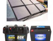 Adventure Kings 120W Portable Solar Blanket + Battery Box + AGM Deep Cycle Battery 98AH