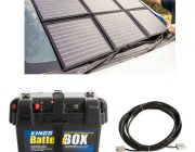 Adventure Kings 120W Portable Solar Blanket + Battery Box + 10m Lead For Solar Panel Extension