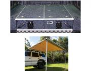 1300mm Titan Drawer System Suitable for Utes + Wings For 1300mm Titan Drawers + Adventure Kings Awning 2.5x2.5m