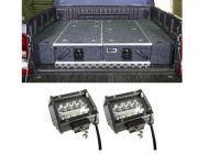 "1300mm Titan Drawer System Suitable for Utes + Wings For 1300mm Titan Drawers + 4"" LED Light Bar"