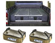 1300mm Titan Drawer System Suitable for Utes + Wings For 1300mm Titan Drawers + 2x Adventure Kings Clear Top Canvas Bag