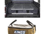 1300mm Titan Drawer System Suitable for Utes + Wings For 1300mm Titan Drawers +  Adventure Kings Clear Top Canvas Bag
