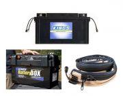 138Ah AGM Deep-Cycle Battery + Adventure Kings Maxi Battery Box + LED Strip Light