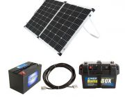 Adventure Kings 160w Solar Panel + Battery Box + AGM Deep Cycle Battery 115AH + 10m Lead For Solar Panel Extension