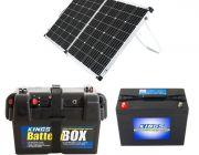 Adventure Kings 160w Solar Panel + Battery Box + AGM Deep Cycle Battery 98AH