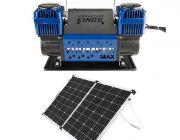 Thumper Max Dual Air Compressor + Adventure Kings 160w Solar Panel