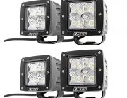 "2 x Adventure Kings 3"" LED Work Light - Pair"