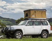 Kings Kwiky MKII Hard Shell Rooftop Tent  Improved Internal Bracing   2min Setup   100% Waterproof   50mm Mattress