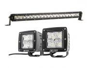 """Kings 20"""" Slim Line LED Light Bar + Adventure Kings 3"""" LED Work Light - Pair"""
