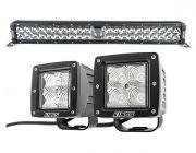 """Adventure Kings 24"""" Laser Light Bar + 3"""" LED Work Light - Pair"""