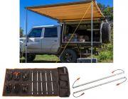 Adventure Kings Awning 2x3m + Orange LED Camp Light Extension Kit + Complete 5 Bar Camp Light Kit