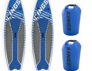 2x Adventure Kings Inflatable Stand-Up Paddle Board + 2x 15L Dry Bag