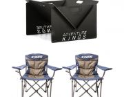 2x Adventure Kings Throne Camping Chair + Kings Portable Steel Fire Pit