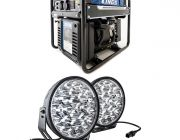 "3.5kVA Open Generator + Domin8r Xtreme 9"" LED Driving Lights (Pair)"