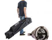Kings 3x3m Wheeled Gazebo Bag + 2in1 LED Light & Fan