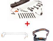 Adventure Kings Illuminator 4 Bar Camp Light Kit + Orange LED Camp Light Extension Kit + LED Head Torch