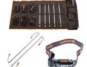 Adventure Kings Complete 5 Bar Camp Light Kit + Orange LED Camp Light Extension Kit + Illuminator LED Head Torch