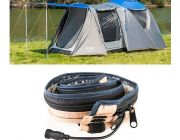Adventure Kings 6 Person Geo Dome Tent + Illuminator MAX LED Strip Light