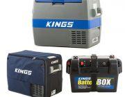 Adventure Kings 60L Camping Fridge + 60L Camping Fridge Cover + Battery Box