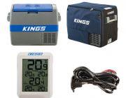 Adventure Kings 60L Camping Fridge + 60L Camping Fridge Cover + 12V Fridge Wiring Kit + Wireless Fridge Thermometer