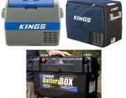 Adventure Kings 60L Camping Fridge/Freezer + 60L Camping Fridge Cover + Maxi Battery Box