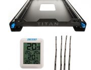 Titan 60L Fridge Slide + Adventure Kings Fridge Tie Down Straps (4 pack) + Wireless Fridge Thermometer
