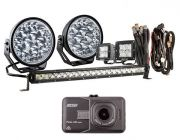 """Adventure Kings Domin8r Xtreme 7"""" Ultimate LED Light Pack + Dash Camera"""