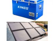 Adventure Kings 70L Camping Fridge + 120W Portable Solar Blanket