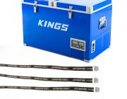 Adventure Kings 70L Camping Fridge/Freezer + Fridge Tie Down Straps (4 pack)