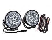 "Kings 7"" Domin8r Xtreme Driving Lights Fitted with OSRAM LEDs (Pair) with Included Smart Wiring Harness 