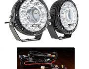 "Kings 7"" Laser Driving Lights (Pair) + Smart Harness"