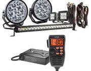 "Adventure Kings Domin8r Xtreme 7"" Ultimate LED Light Pack + Oricom UHF380PK In-Car 5W CB Radio"