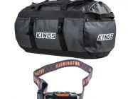 Kings 80L Extra-Large PVC Duffle Bag + LED Head Torch