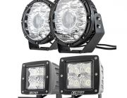 "Kings 8.5"" Laser MKII Driving Lights (pair) + 3"" LED Work Light - Pair"