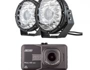 "Kings 8.5"" Laser MKII Driving Lights (pair) + Adventure Kings Dash Camera"