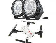 """Kings 8.5"""" Laser MKII Driving Lights (pair) + Adventure Kings Cyclone Drone"""