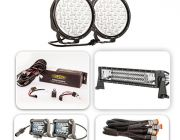 """Pair of 9"""" Driving Lights, 22"""" Light Bar & 2x 4"""" Light Bar Ultimate Pack