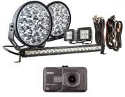 """Adventure Kings Domin8r Xtreme 9"""" Ultimate LED Light Pack + Dash Camera"""