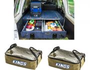 900mm Titan Rear Drawers suitable for smaller wagons + 2x Adventure Kings Clear Top Canvas Bag