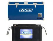 Kings 90L Camping Fridge Freezer | Dual Zone + Adventure Kings 138Ah AGM Deep-Cycle Battery